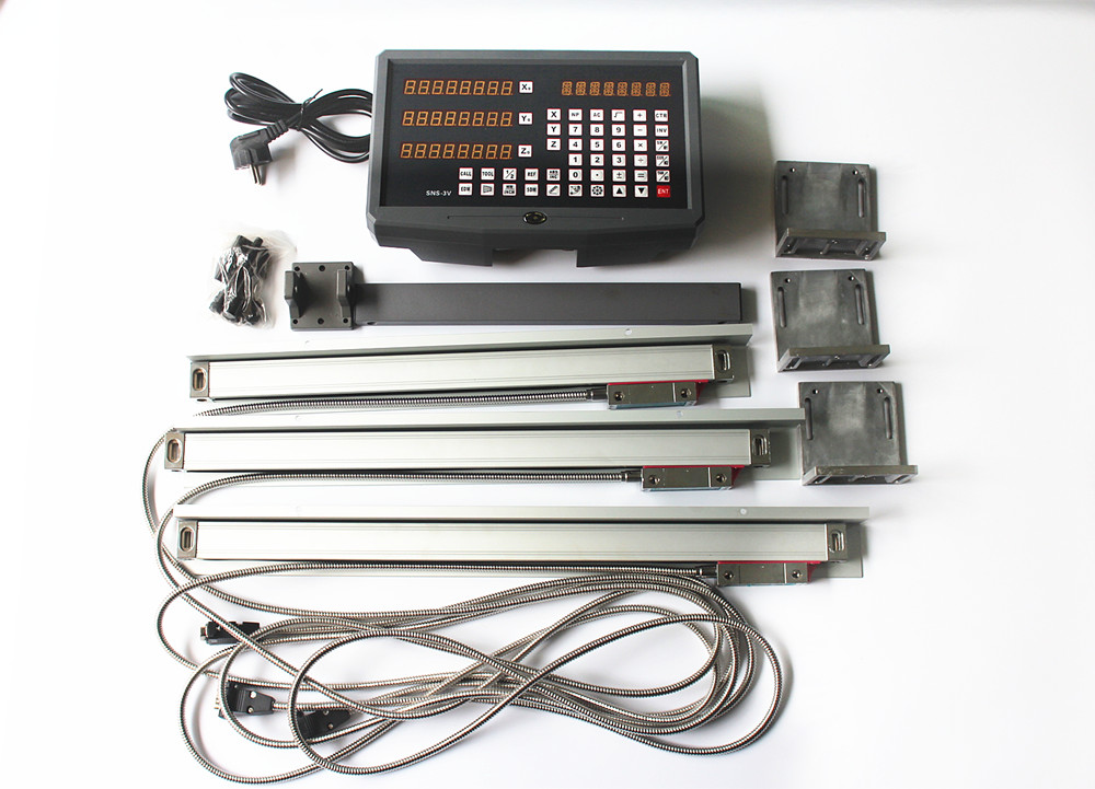 Ship from Moscow DRO 3 axis Digital Readout + 3 pieces linear scale travel 150-1020mm linear encoder complete dro unit+Parts replay a140 8 5x19 5x112 d66 6 et32 gmf