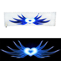 Car Sticker Atmosphere Lamp Music Rhythm LED Cold Light Sticker Sound Activated Equalizer Horn Decoration Car Styling CSL2017
