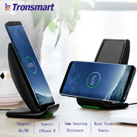 Tronsmart WC01 Fast Wireless Charger Battery Charger Power Bank For IPhone X IPhone 8 8 Plus