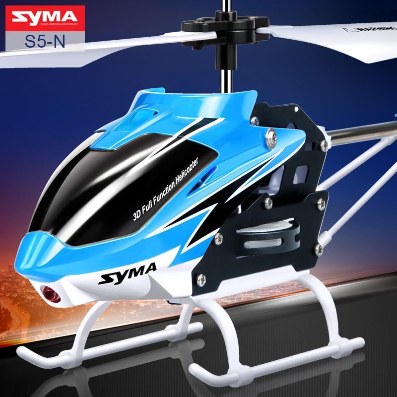 Syma oficial S5-N 3CH mini RC helicóptero construido en giroscopio juguete de interior para niños