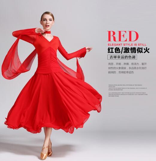 Ballroom Dress Good Quality Waltz Dance Costumes Ballroom Dress Woman Dresses Dance Ballroom red black white
