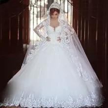 174f7daaf QQ amante De lujo Vintage completo mangas De encaje Vestido De novia 2019  Vestido De la