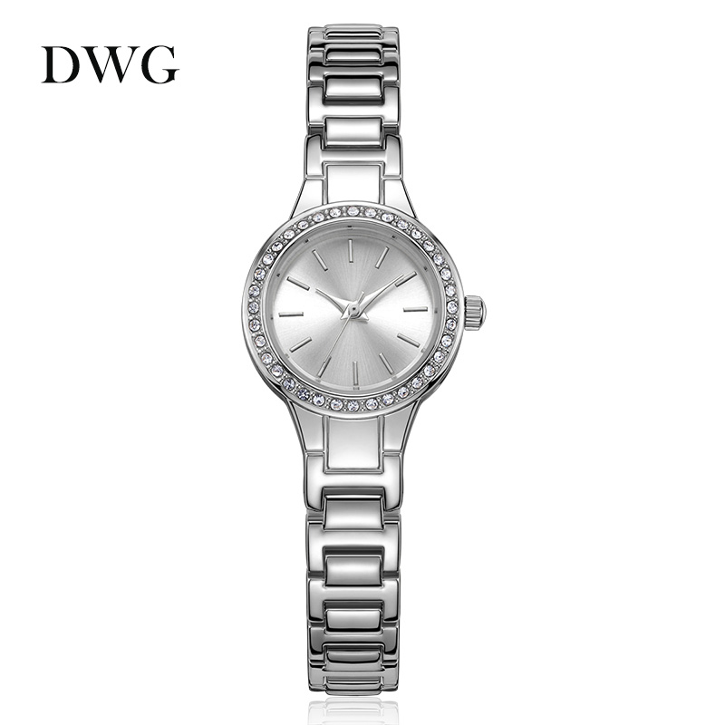 DWG New Fashion Gold Silver Plated Stainless Steel Quartz Wrist Watch Women Wristwatches Watch Reloj Female Shinning Rhinestone 1 pcs mini micro aluminum hand drill with keyless chuck 10x high speed steel twist drills rotary tools wood drilling th4