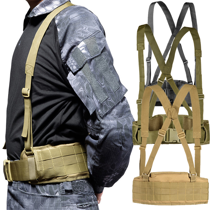 SJ-Maurie Military Army Hunting Chaleco <font><b>Tactico</b></font> <font><b>Molle</b></font> System Low Profile Waist Belt Rig Airsoft Vest Profile Tactical Vest image