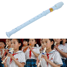 5 Colors Plastic Musical Instrument Recorder Soprano Long Flute- 8 Holes