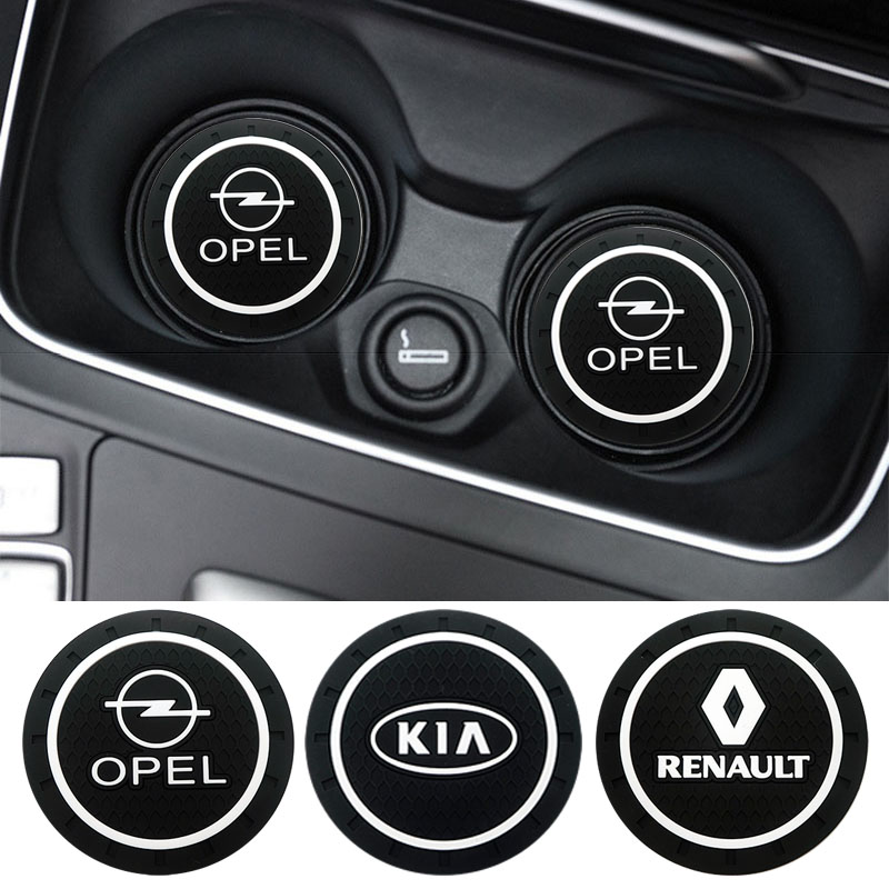 Car Ornament Pvc Non-slip Coaster Mat Sticky Pad Automobiles Interior Coaster Non Slip Mat For BMW Ford Kia Reynolds SEAT Toyota
