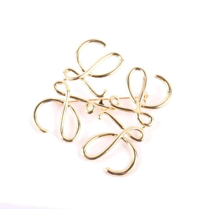 Spanish Show Star Geometry Square Hollow Brooch Symmetrical Brooch Ladies Suit Pin Accessories 1