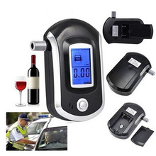 Free Shipping Mini Police Digital LCD Breath Alcohol Tester Breathalyzer AT6000