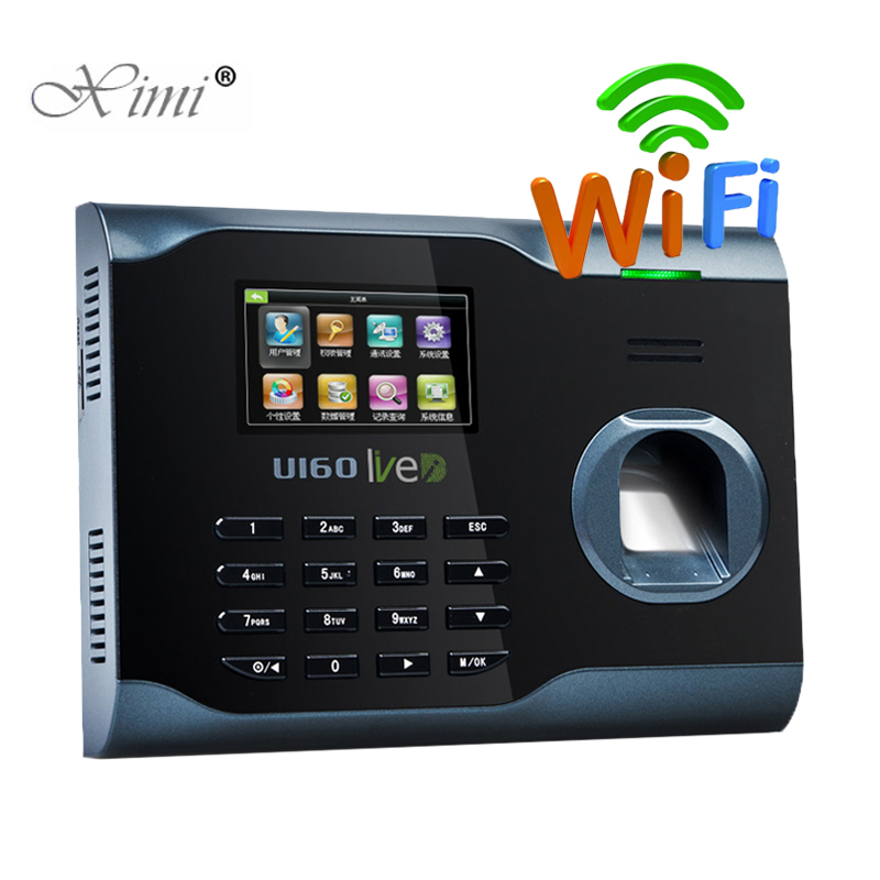 ZK U160 Biometric Fingerprint Time Attendance WIFI TCP/IP USB Fingerprint Time Clock Time Recorder Employee Attendance
