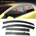 Car Stylingg Awnings Shelters 4pcs/lot Window Visors For Toyota Yaris 2009-2016 Sun Rain Shield Stickers Covers