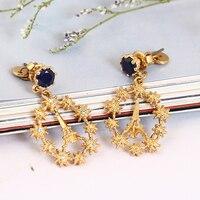 New Romantic Fashion Paris Kochanka Z Wieży Eiffla Kryształ Starlight Kolczyki Kobieta Złota Biżuteria Walentynki prezent
