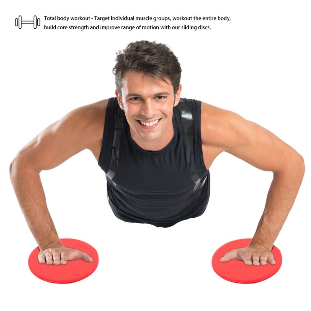 2 Pcs/Set SPORT Gliding Discs Core Sliders Dual Sided Gliding Discs Use On Carpet Or Hardwood Floors For Core Training