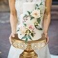 Горячая железная металлическая круглая подставка для торта  подставка для торта на свадьбу  день рождения  вечеринку  подставка для торта  п...