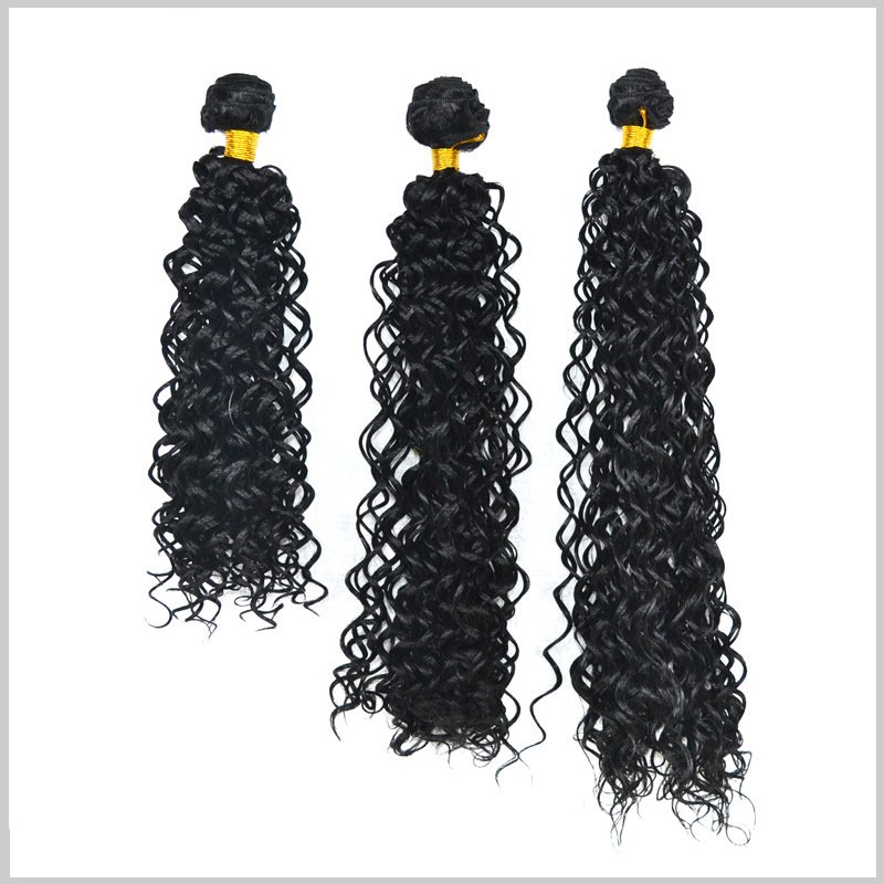 3pcs/set top quality hair jewelry 16/18/20inch 220g hair accessories hairwear for black womens weave kinky curly hair extension