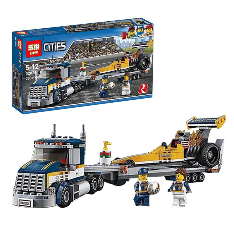 Lepin 02025 City Series The High Speed Racer Transporter Set Children Educational Building Blocks Bricks funny Toys 60151 B63 lepin 02025 city the high speed racer transporter 60151 building blocks policeman toys for children compatible with lego