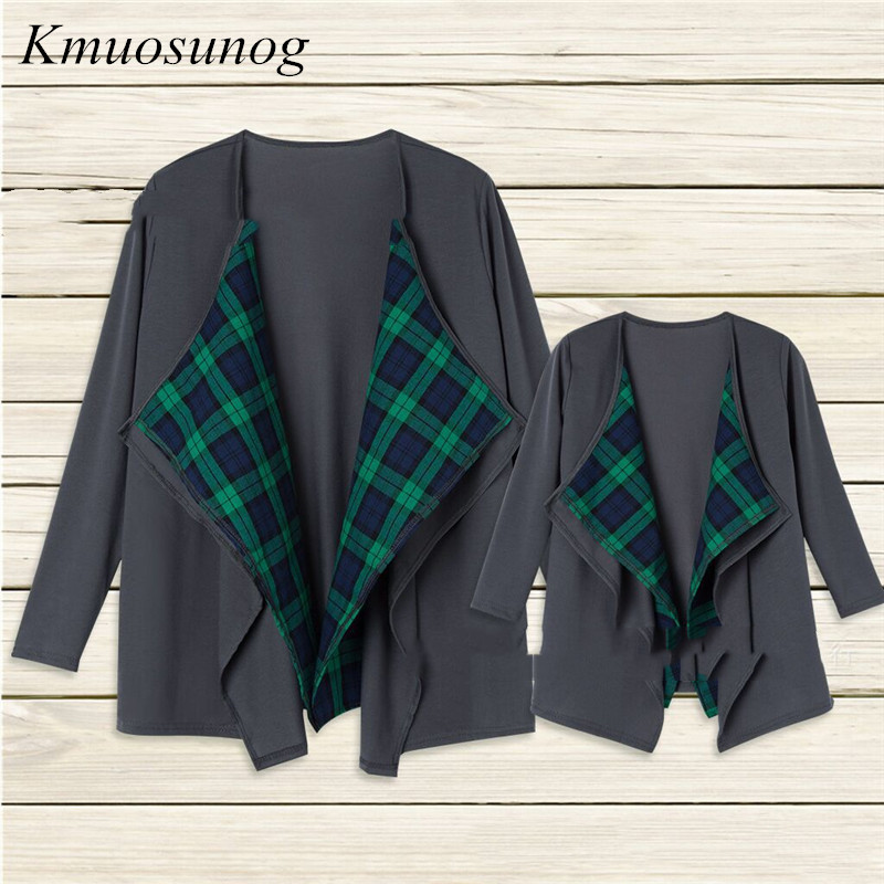 2019 Autumn Long Sleeve Family Outfits mommy and me clothes Mother Daughter Cardigan Sweater Outwear Jacket Fasion C0280