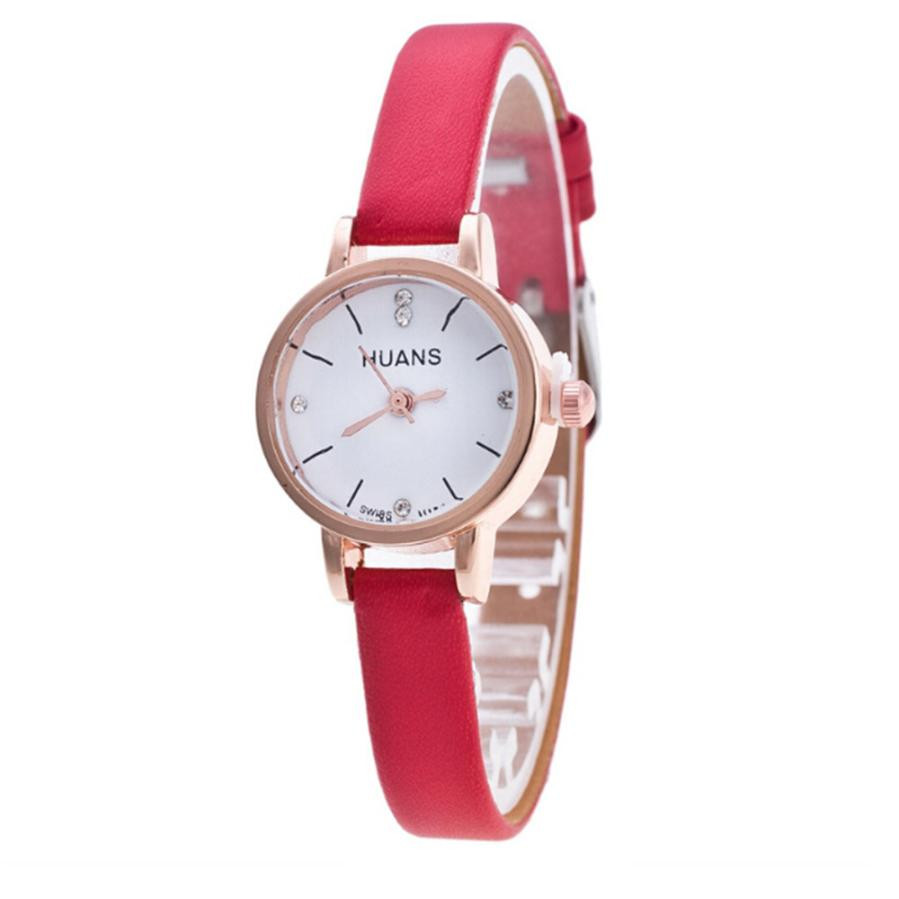 Thin strap Small and delicate female watch high quality Minimalist Fashion Woman Fine Strap Watch Travel Souvenir Birthday Gifts(China)