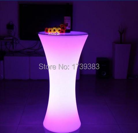 Iluminado LEVOU Mesa de Cocktail Rodada para a estação de café/Festa/Hotel/Bar mesa de Café criativo LED luz Da Bolha