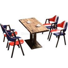 Закуска фаст-фуд Ресторан тема западный ресторан промышленный ветер отель стол и стул ретро барбекю магазин стол и стул