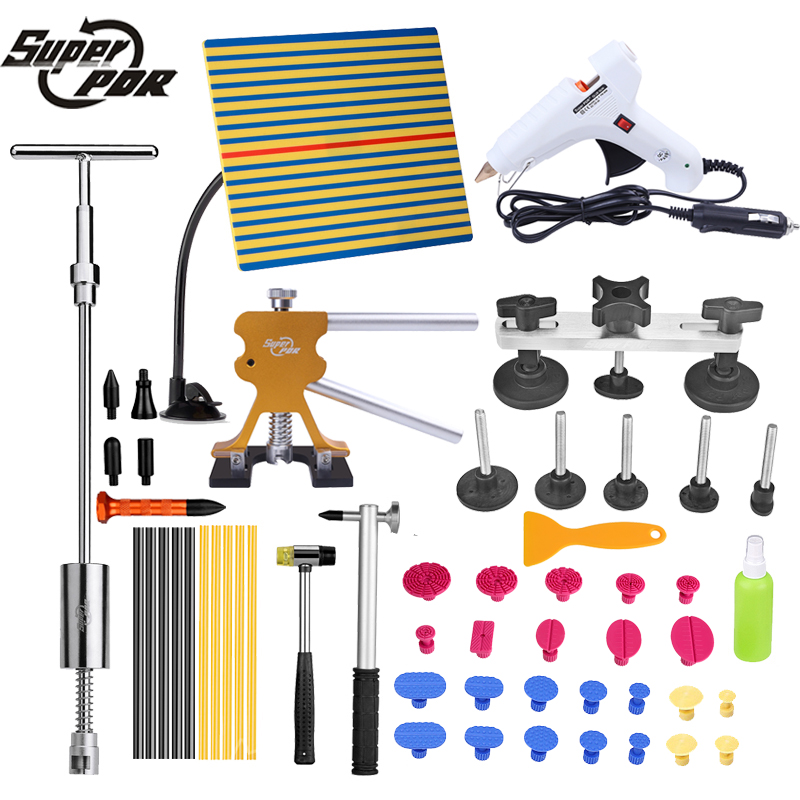 PDR tools Paintless Dent Removal tool kit Car Dent repair Tools dent puller slide hammer pulling bridge tap down pen hand tools 2 in one slide hammer dent puller kit newest bridge dent puller lifter pdr paintless dent removal tools 24 pdr pulling tabs