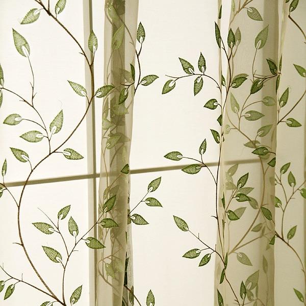 Nueva llegada moderna breve estilo fresco vides verdes hojas patrón - Textiles para el hogar