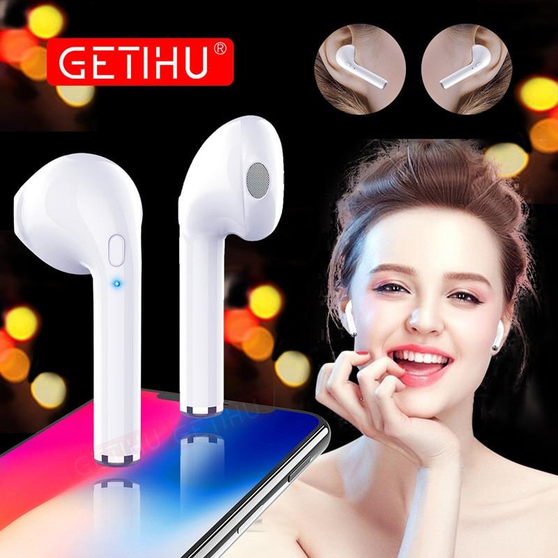 GETIHU Mini Twins Bluetooth Earphones Stereo headphones Wireless Earphones Sport in Ear Earbuds Headset For Apple iPhone X 6 6s