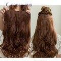 #4 grampo de cabelo Remy em extensões do cabelo grampo na trama do cabelo da onda do corpo com faixa 100 g/peça 5 clips frete grátis