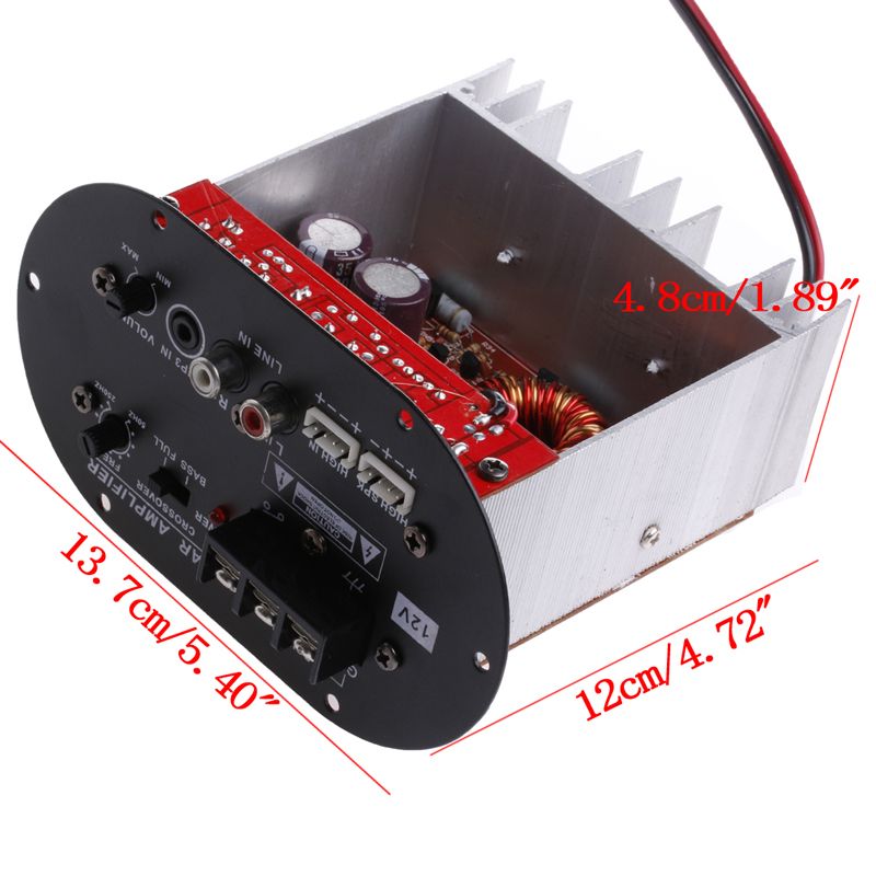 120W 8 12 quot Core Tube 12V Car Tritone Pure Bass Amplifier Board New in Amplifier from Consumer Electronics