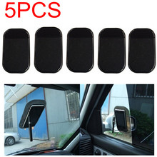5pcs/lot Free Shipping Car Use Black Anti Slip Mat Silicon Gel Sticky Pad For Phone GPS PDA MP3 MP4