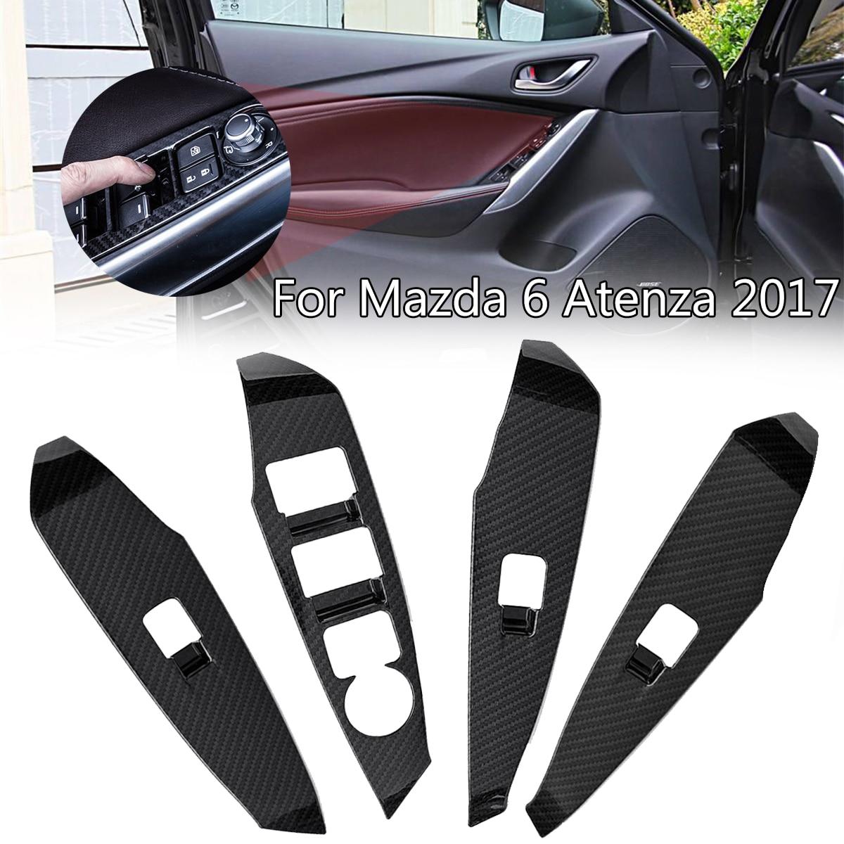 4 шт. наклейки на автомобиль для Mazda 6 Atenza 2017 окна лифт переключатель дверные ручки держатель панель отделкой защитный Чехлы мангала