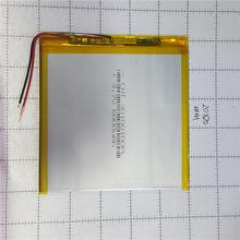 Литий полимерная батарея 3x100x100 мм 37 в 6000 мАч планшетный
