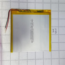 lithium polymer battery 3x100x100mm 3.7v 6000mah tablet battery 2 wire цена 2017