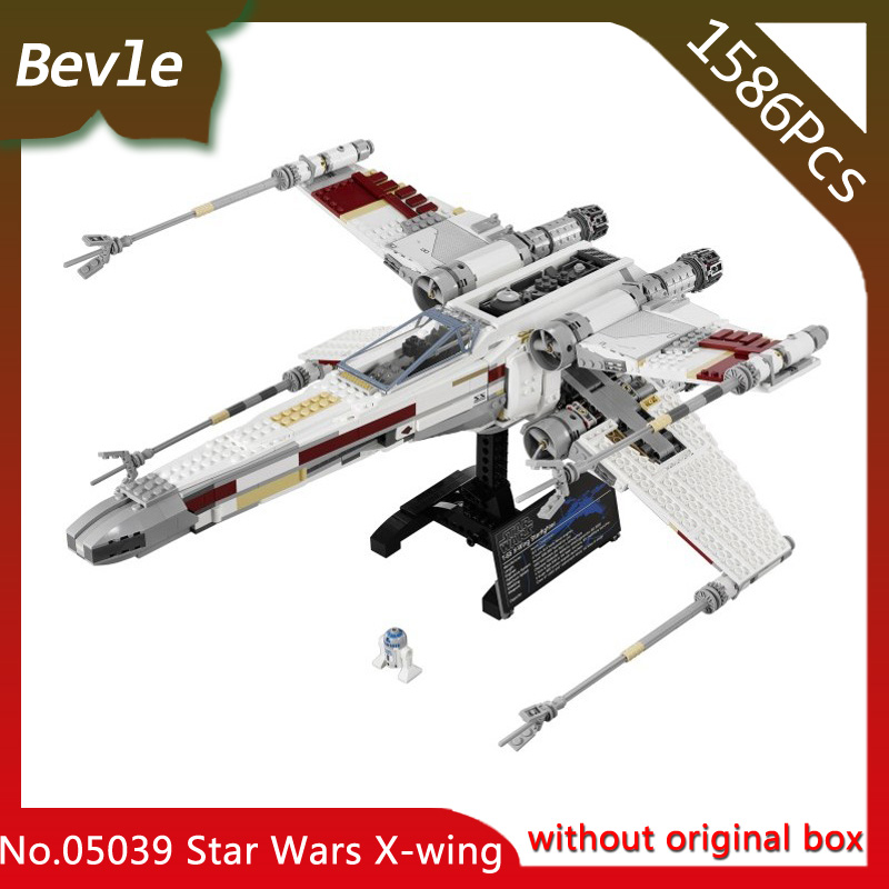 Bevle Store LEPIN 05039 1586Pcs star space series X-wing five-star fighter Assembly Building Blocks For Children Toys 10240 Gift bevle store lepin 16008 4080pcs with original box movie series cinderella princess building blocks for children toys 71040