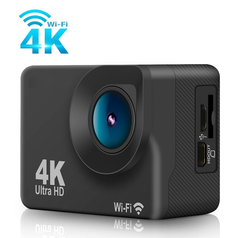 Dveetech 4K Sport font b Action b font Camera Wifi Touch Screen Waterproof 30M 1080p Full