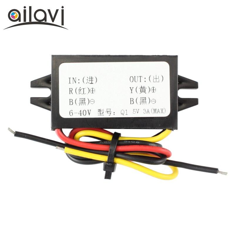 Adjustable CPT Power Supply Voltage Regulator Module DC12V 24V to DC 5V 3A Power Step Down Buck Converter стоимость
