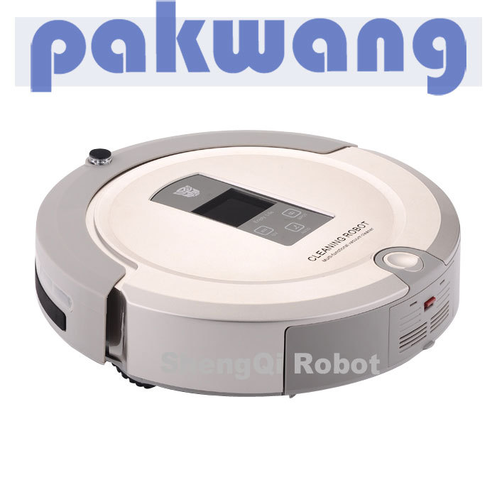 4 in 1 Multifunction Automatic Robot Vacuum Cleaner A325 Light Golden, UV,Recharge Base, Virtual Wall, Remote Control Mop Vacuum