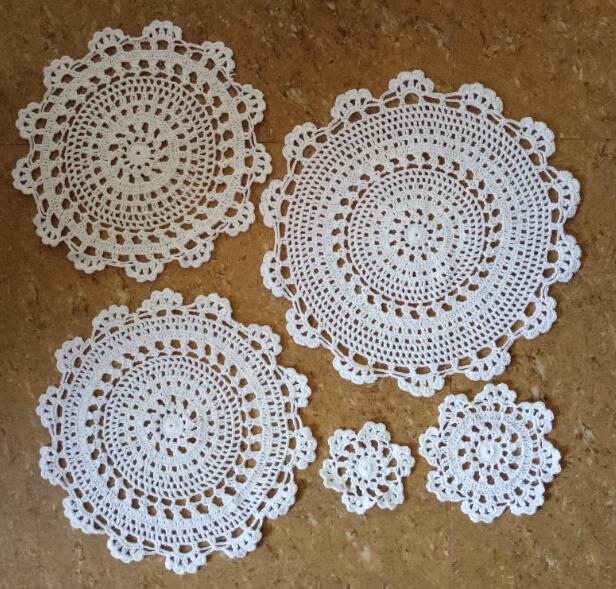 Precise New Crochet Table Place Mat Cloth Lace Cotton Christmas Mug Dish Placemat Cup Dining Coaster Round Doily Tea Coffee Pad Kitchen Table Decoration & Accessories