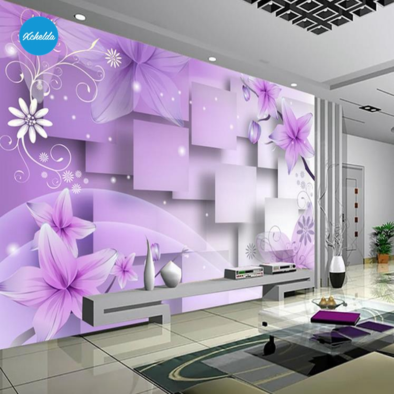 XCHELDA Custom 3D Wallpaper Desig Dimensional Geometry Photo Kitchen Bedroom Living Room Wall Mural Papel De Parede Para Quarto xchelda custom 3d wallpaper design buds and butterflies photo kitchen bedroom living room wall murals papel de parede