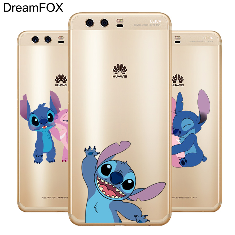 DREAMFOX L605 Stich Soft TPU Silicone  Case Cover For Huawei P8 P9 P10 Lite Plus 2017 Honor 8 Pro 9 6X