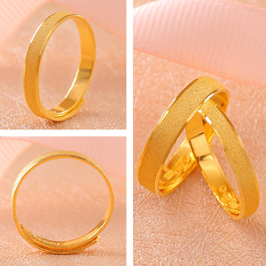 Image 2 - BTSS 24K Pure Gold Ring Real AU 999 Solid Gold Rings Good Shiny Beautiful Upscale Trendy Classic Fine Jewelry Hot Sell New 2020