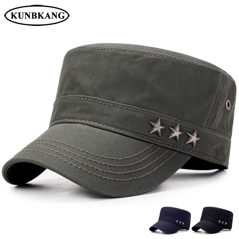 New Summer Men Snapback Cap Army Green Flat Top Hat With Air Hole  Breathable Bone Outdoor Casual Solid Color Visor Baseball Hat-in Baseball  Caps from ... 610395863fa