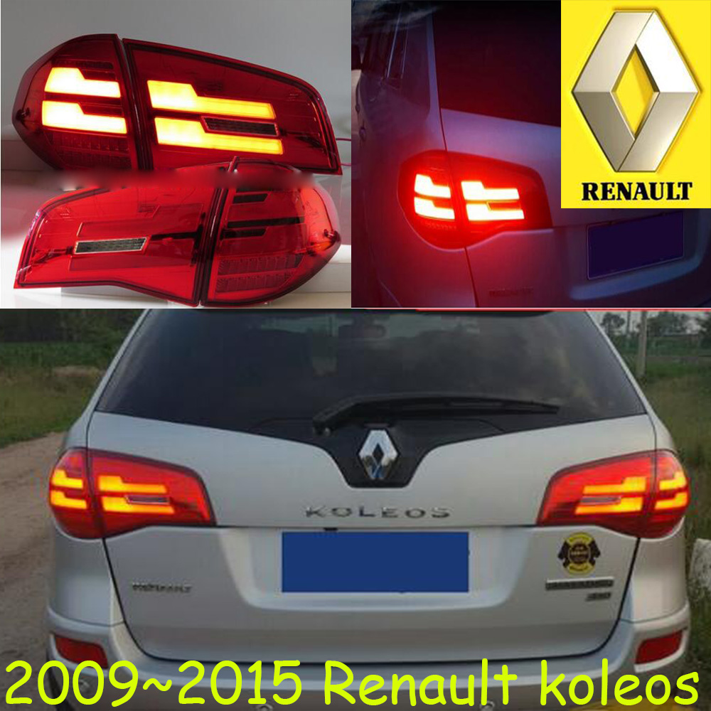 car-styling,koleos Taillight,2009~2015,Free ship!4pcs,koleos fog light;chrome,koleos tail lamp,car-detector,koleos car styling yukon taillight 2015 2017 2pcs set led free ship yukon fog light chrome yukon tail lamp car detector yukon