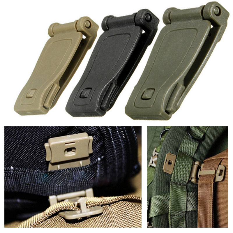 Molle Backpack Connecting Clip Strap Belt Bag attachment Tactical Hiking