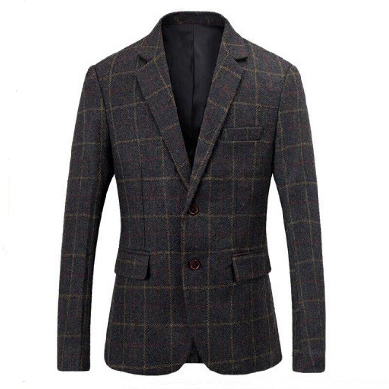 2016 г. Весна Мода Марка Сетка Блейзер Для мужчин Повседневное пиджак Для мужчин Slim Fit Костюмы тенденция Шерстяные пальто для женщин мужской к