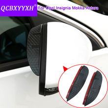 QCBXYYXH For Opel Insignia Antara Mokka Car Styling Carbon Rearview Mirror Decorative Rain Gear Back Mirror Eyebrow Rain Cover