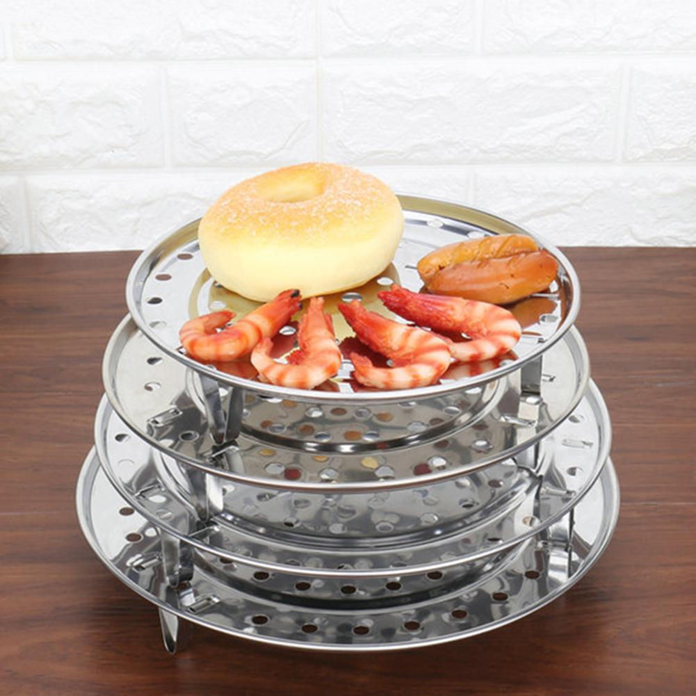 304 Stainless Steel Steam Basket Mesh Insulation Three-legged Steamer Food Vegetable Egg Dish Steamer Kitchen Tool