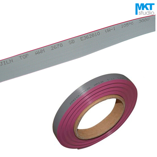 1Pcs 1Meter 0.635mm Pitch Flat Ribbon Cable For 1.27mm FC IDC Shrouded Box Header Sample 6P 8P 10P 12P 14P 16P 18P 20P