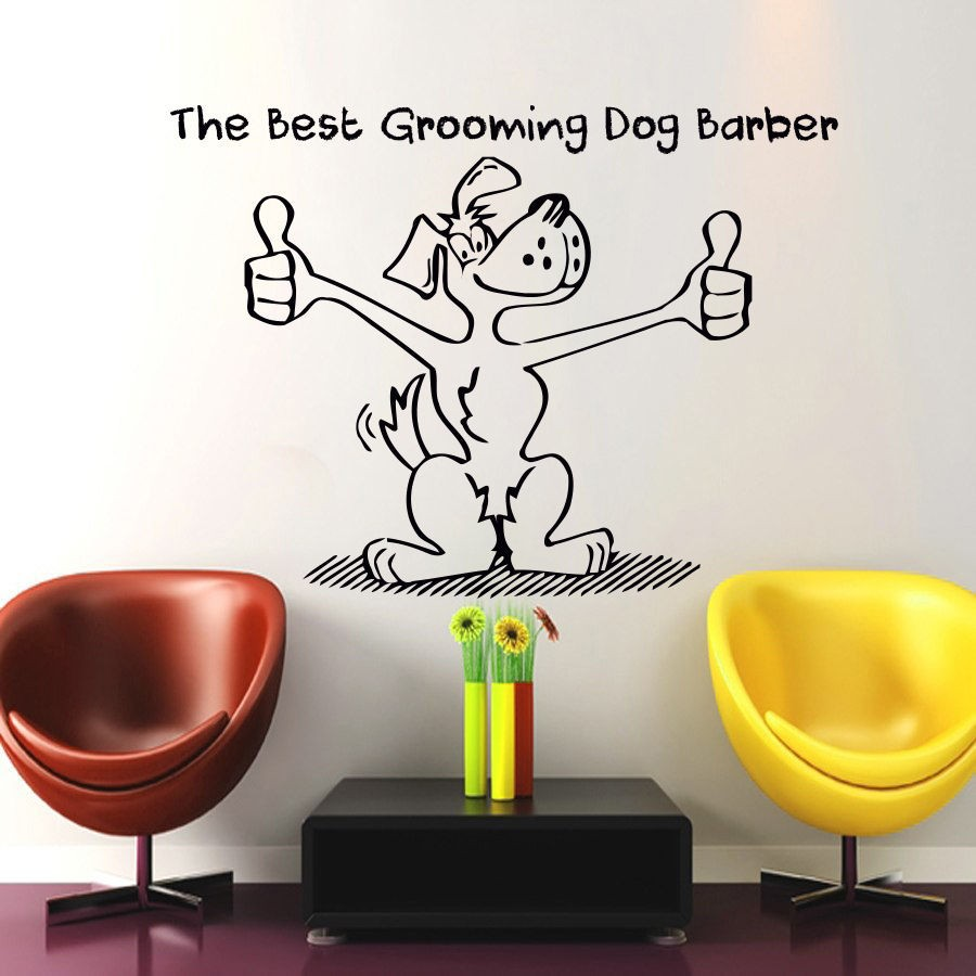 etiqueta de la pared tatuajes de arte decoracin saln de la preparacin del perro pet shop