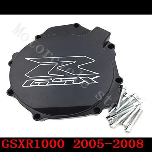Fir for Suzuki GSXR1000 GSXR 1000 2005-2008 Motorcycle Engine Stator cover Black left side K5 K7 fit for suzuki gsxr1000 gsxr 1000 2005 2008 motorcycle engine stator cover see through black left side k5 k7