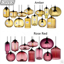 где купить Creative Modern simple Colorful glass Pendant Lights Restaurant Bar Cafe Decorative lighting Fashion Lamps по лучшей цене